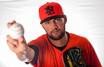 Loek Van Mil of Team Netherlands poses during WBC Photo Day at the Taichung International Baseball Stadium on February 26, 2013 in Taichung, Taiwan. Photo by Victor Fraile / The Power of Sport Images