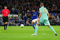 Robert Glatzel of Cardiff City in action during the Sky Bet Championship match between Cardiff City and Queens Park Rangers at the Cardiff City Stadium in Cardiff, Wales, UK. Wednesday 02 October, 2019