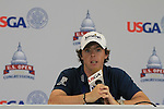 Rory  McIlroy (NIR) speaking after finishing his round at -6 on day one of the USGA at Congressional country club, Bethesda, Washington, 16/6/11.Picture Fran Caffrey/www.golffile.ie