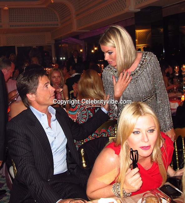 Rob Lowe and wife Sheryl Berkoff..De Grisogno Party..2011 Cannes Film Festival..Eden Roc Restaurant at Hotel Du Cap..Cap D'Antibes, France..Tuesday, May 17, 2011..Photo By CelebrityVibe.com..To license this image please call (212) 410 5354; or.Email: CelebrityVibe@gmail.com ;.website: www.CelebrityVibe.com