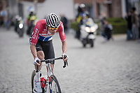 Mathieu Van Der Poel (NED/Correndon-Circus) charging up Nokere Berg<br /> <br /> 74th Dwars door Vlaanderen 2019 (1.UWT)<br /> One day race from Roeselare to Waregem (BEL/183km)<br /> <br /> ©kramon
