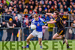 Kieran Spillane Templenoe goes past Darragh cleary Coolmeen during the Munster Junior football final in Mallow on Sunday