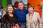 Eileen Wall, Brendan O'Brien and Helen O'Sullivan all Tralee attending the Monster Bingo fundraiser for the Curraheen Community Room Extension Fund in the KDYS on Sunday.