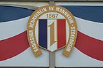Das Logo des Badischen Rennvereins Mannheim-Seckenheim beim Renntag auf der Seckenheimer Rennbahn.<br /> <br /> Foto © PIX-Sportfotos *** Foto ist honorarpflichtig! *** Auf Anfrage in hoeherer Qualitaet/Aufloesung. Belegexemplar erbeten. Veroeffentlichung ausschliesslich fuer journalistisch-publizistische Zwecke. For editorial use only.