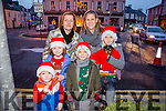 At the Castleisland Christmas lights Event on Friday were l-r  Elizabeth Hickey, Niamh Burke, Lorcan Hickey, Muireann Hickey, James Burke, Ayrton Burke and Pixel the dog