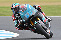 October 27, 2018: Niki TUULI (FIN) riding the KALEX from the Petronas Sprinta Racing team during the Moto2 practice session three at the 2018 MotoGP of Australia at Phillip Island Grand Prix Circuit, Victoria, Australia. Photo Sydney Low
