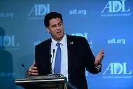 {city}, {state} - {monthname} {day}, {year4}: Amb. Ron Dermer, Israel's Ambassador to the United States, speaks on the subject of U.S.-Israel relations during the Anti-Defamation League's (ADL) National Leadership Summit at the Mayflower Hotel in the District of Columbia, {monthname} {day}, {year4}.  (Photo by {credit})