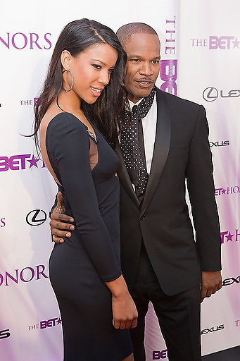Slug: 2011 BET Honors.Date: 01-16-2011.Photographer: Mark Finkenstaedt.Location:  Wagner Theater, Washington DC.Caption:  2010 BET Honors - Wagner Theater Washington DC.Britt Loren and Jamie Foxx.