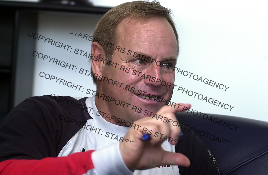 SPORT FUDBAL PARTIZAN JIRGEN REBER 29.11.2005. foto: Pedja Milosavljevic<br />