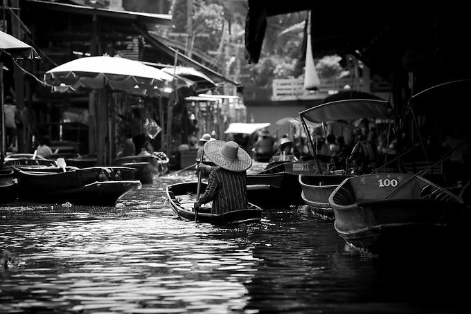 "The famous ""floating market"" (damnoen saduak) outside Bangkok, Thailand."