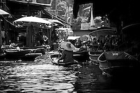 "The famous ""floating market"" (damnoen saduak) outside Bangkok, Thailand."