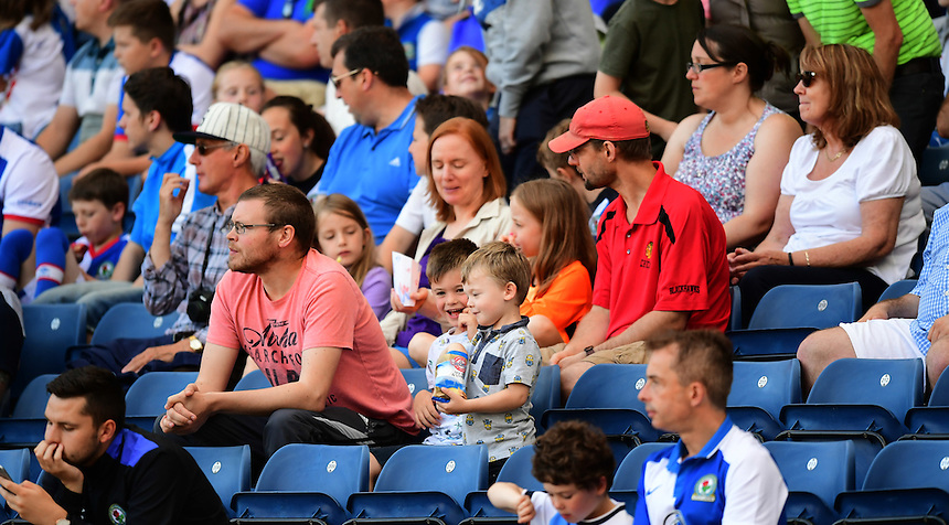 Blackburn Rovers fans in the new family section of Ewood Park<br /> <br /> Photographer Chris Vaughan/CameraSport<br /> <br /> Football - The EFL Sky Bet Championship - Blackburn Rovers v Norwich City - Saturday 6th August 2016 - Ewood Park - Blackburn<br /> <br /> World Copyright &copy; 2016 CameraSport. All rights reserved. 43 Linden Ave. Countesthorpe. Leicester. England. LE8 5PG - Tel: +44 (0) 116 277 4147 - admin@camerasport.com - www.camerasport.com