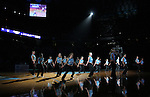 """13 October 2006: UNC's Dance Team entertains the crowd. The University of North Carolina at Chapel Hill Tarheels held their first Men's and Women's basketball practices of the season as part of """"Late Night with Roy Williams"""" at the Dean E. Smith Center in Chapel Hill, North Carolina."""