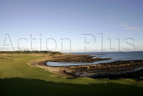 1 October 2005: General view of the 12th hole at Kingsbarns golf course on the third day of the Dunhill Links Championship, St Andrews, Scotland. Photo: Glyn Kirk/Actionplus....051001 golf venue green coastal coast