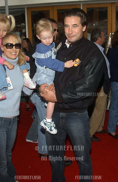 Actor WILLIAM BALDWIN & wife actress CHYNNA PHILLIPS & children at the world premiere, in Hollywood, of Dr. Suess' The Cat in the Hat..November 8, 2003