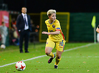 20171020 - LEUVEN , BELGIUM : Romanian Andreea Voicu pictured during the female soccer game between the Belgian Red Flames and Romania , the second game in the qualificaton for the World Championship qualification round in group 6 for France 2019, Friday 20 th October 2017 at OHL Stadion Den Dreef in Leuven , Belgium. PHOTO SPORTPIX.BE | DAVID CATRY