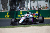 23rd March 2018, Melbourne Grand Prix Circuit, Melbourne, Australia; Melbourne Formula One Grand Prix, Friday free practice; The number 35 Williams Martini driven by Sergey Sirotkin