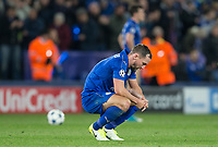 Danny Drinkwater of Leicester City  at full time during the UEFA Champions League QF 2nd Leg match between Leicester City and Atletico Madrid at the King Power Stadium, Leicester, England on 18 April 2017. Photo by Andy Rowland.