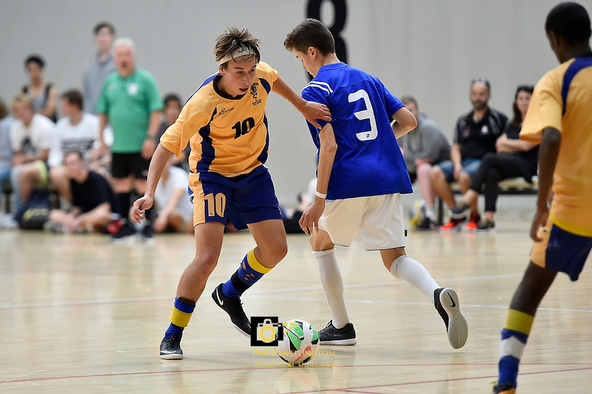 Futsal - CSW Champs at ASB Sport Centre, Wellington, New Zealand on Saturday 19 March 2016. <br /> Photo by Masanori Udagawa. <br /> www.photowellington.photoshelter.com.