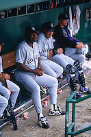SAN FRANCISCO, CA - Manager Don Baylor of the of the Colorado Rockies sits in the dugout during a game against the San Francisco Giants at Candlestick Park in San Francisco, California in 1995. Photo by Brad Mangin
