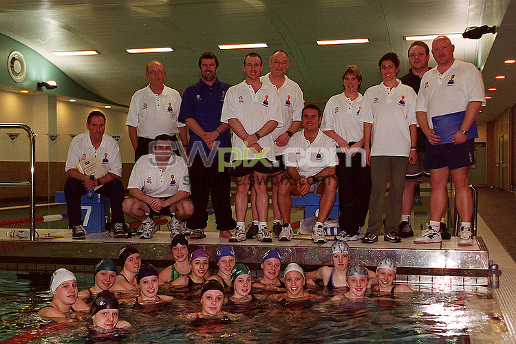Pix: Ben Duffy/SWPIX. Swimming..World Class Potential Training Camp. Manchester 18/02/2001..COPYRIGHT PICTURE>>SIMON WILKINSON>>01943 436649>>..Group picture, swimmers and coaches...The final handful of elite junior swimmers have now heard of their.selection to the  Kelloggs Frosties World Class Potential Programme.  14.swimmers aged 17-18 years now complete the group of 69 which includes.swimmers as young as twelve.