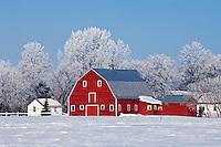 Red barn<br /> Grande Pointe<br /> Manitoba<br /> Canada