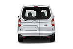 Straight rear view of a 2018 Ford transit courier Limited 4 Door Car Van stock images