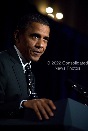 United States President Barack Obama delivers remarks at a DSCC/DCCC event in the Roosevelt Hotel, New York City, New York on Wednesday, September 22, 2010..Credit: Emily Anne Epstein - Pool via CNP