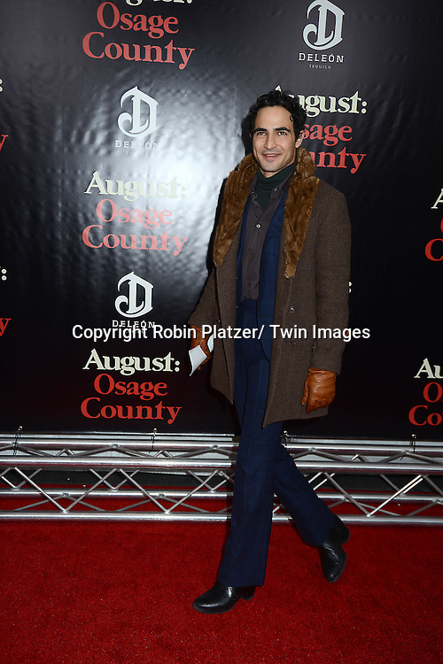 "Zac Posen attends the New York Premiere of ""August: Osage County"" on December 12, 2013 at the Ziegfeld Theatre in New York City."