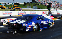 May 18, 2012; Topeka, KS, USA: NHRA pro stock driver Jimmy Alund during qualifying for the Summer Nationals at Heartland Park Topeka. Mandatory Credit: Mark J. Rebilas-