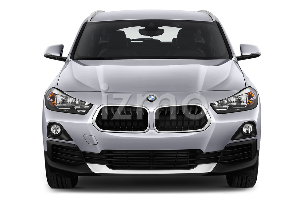 Car photography straight front view of a 2018 BMW X2 Advantage 5 Door SUV