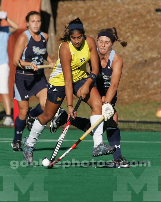 University of Michigan field hockey 1-0 loss to Old Dominion University in the first round of the NCAA Field Hockey Tournament in Chapel Hill, NC, on November 13, 2010.
