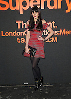 Lilah Parsons attending The Superdry AW14 event, London Collections: Men held at the old sorting office<br /> London. 07/01/2014 Picture by: Henry Harris / Featureflash