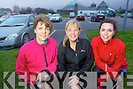 Half Marathon runners getting ready for a training run at the Aquadome on Monday evening Bernadette Walsh, Sheila Kelly and Lorraine Bowler.