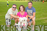 Mick Fleming Rachel Deacon, Ian Deacon, with Hilley and Lucy enjoying the Camp Cash Cow family fun Day on Sunday
