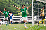 Chun Sing Yuen of Wofoo Tai Po (C) celebrating his score during the week three Premier League match between BC Rangers and Wofoo Tai Po at Sham Shui Po Sports Ground on September 17, 2017 in Hong Kong, China. Photo by Marcio Rodrigo Machado / Power Sport Images