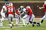 South Florida Bulls wide receiver Deonte Welch (83) in action during the game between the South Florida Bulls and the SMU Mustangs at the Gerald J. Ford Stadium in Fort Worth, Texas. SMU leads USF 13 to 0 at halftime.