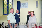 200th Anniversary : Rev. Dr. Keith Scott unveiling the plaque to commemorate the 200th anniversary of Sr. Brendan's Church of Ireland . L_-R: Alan Fitzell, Rev DR. Keith Scott, Fr. John O'Connor & Margaret Fitzell.