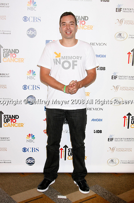 HOLLYWOOD, CA. - September 05: TV Personality Jimmy Fallon arrives at Stand Up For Cancer at The Kodak Theatre on September 5, 2008 in Hollywood, California.