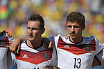 (L-R) Miroslav Klose, Thomas Muller (GER), JULY 4, 2014 - Football / Soccer : FIFA World Cup Brazil 2014 quarter-finals match between France 0-1 Germany at Estadio do Maracana in Rio de Janeiro, Brazil. (Photo by FAR EAST PRESS/AFLO)