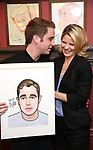 Ben Platt and Kelli O'Hara attends the Ben Platt Sardi's Portrait unveiling at Sardi's on May 30, 2017 in New York City.