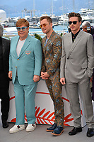 "CANNES, FRANCE. May 16, 2019: Elton John, Taron Egerton & Richard Madden at the photocall for the ""Rocketman"" at the 72nd Festival de Cannes.<br /> Picture: Paul Smith / Featureflash"
