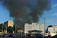 16.07.2011 Brand in alter Gurkenfabrik in Leipzig