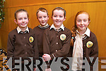 Kira Rath, Conor Clifford, Aisling Hanafin and Ailbha Ghaligh from Gaelscoil Mhic Easmainn at the Tralee Credit Union Primary Schools Quiz, held at Ballyroe Heights Hotel on Sunday