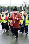 Mayor Paul Bell Warms Up at the Operation Transformation National Walk...Photo NEWSFILE/Jenny Matthews..(Photo credit should read Jenny Matthews/NEWSFILE)