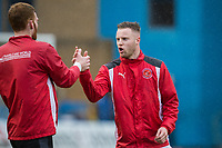 Kevin O'Connor of Fleetwood Town (right) ahead of the Sky Bet League 1 match between Gillingham and Fleetwood Town at the MEMS Priestfield Stadium, Gillingham, England on 27 January 2018. Photo by David Horn.