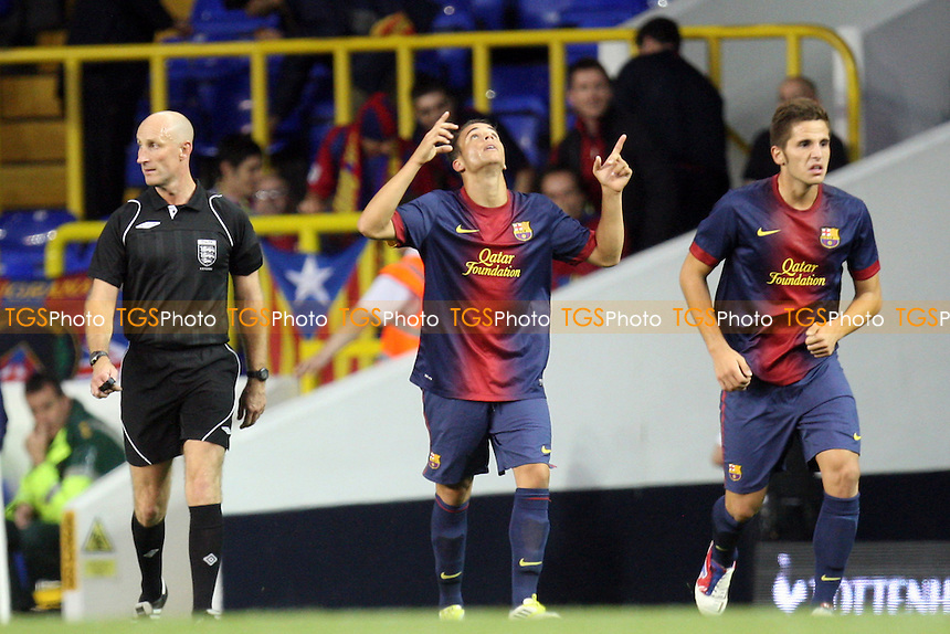Sandro of Barcelona celebrates scoring the opening goal - Tottenham U19s v Barcelona U19s 13/09/20122 - MANDATORY CREDIT: Dave Simpson/TGSPHOTO - Self billing applies where appropriate - 0845 094 6026 - contact@tgsphoto.co.uk -NO UNPAID USE