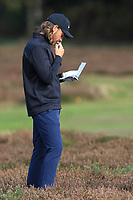 Tommy Fleetwood (ENG) on the 2nd during Round 3 of the Sky Sports British Masters at Walton Heath Golf Club in Tadworth, Surrey, England on Saturday 13th Oct 2018.<br /> Picture:  Thos Caffrey | Golffile