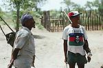 San hunter  Tchumkwe, Bushman land, Namibia