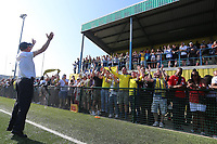 Aki Achillea chairman of Haringey applauds the fans during Haringey Borough vs Canvey Island, Bostik League Division 1 North Play-Off Final Football at Coles Park Stadium on 6th May 2018